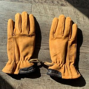 Timberland leather lined gloves kids L